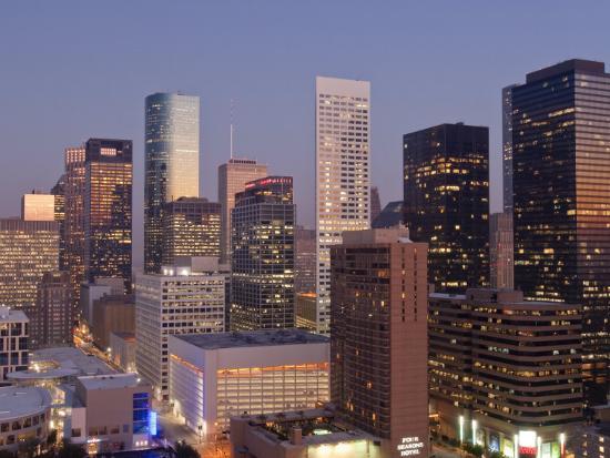 Skyline, Houston, Texas, United States of America, North America-Michael DeFreitas-Photographic Print