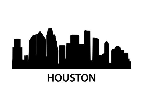 Skyline Houston-unkreatives-Art Print