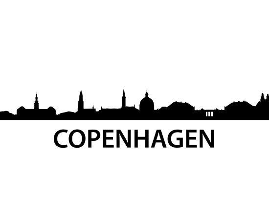 Skyline Kopenhagen-unkreatives-Art Print