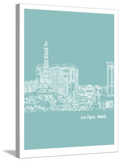 Skyline Las Vegas 5-Brooke Witt-Stretched Canvas Print