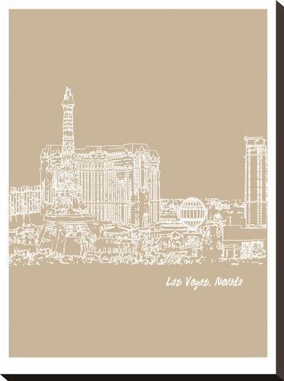 Skyline Las Vegas 7-Brooke Witt-Stretched Canvas Print