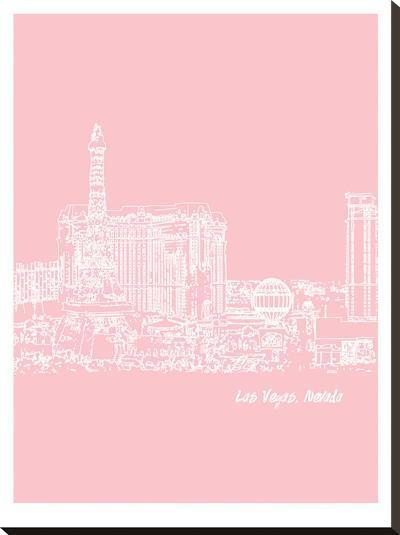 Skyline Las Vegas 9-Brooke Witt-Stretched Canvas Print