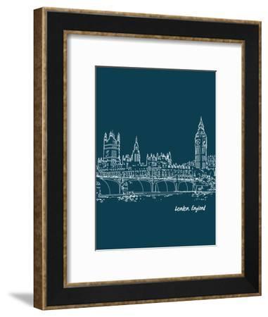 Skyline London 3-Brooke Witt-Framed Art Print