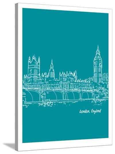 Skyline London 4-Brooke Witt-Stretched Canvas Print