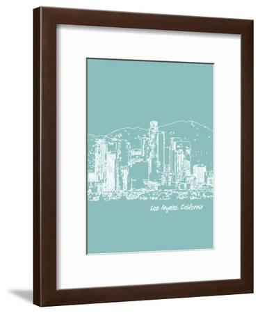 Skyline Los Angeles 5-Brooke Witt-Framed Art Print