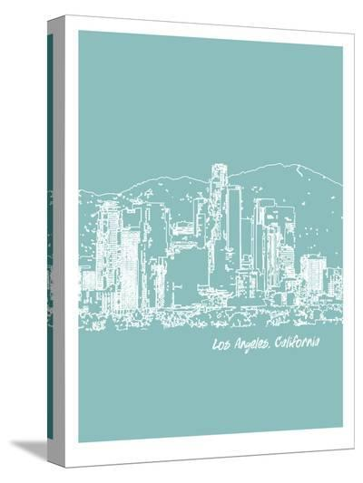 Skyline Los Angeles 5-Brooke Witt-Stretched Canvas Print