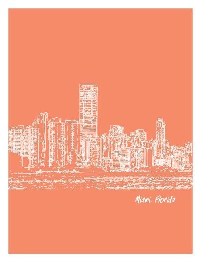 Skyline Miami 8-Brooke Witt-Art Print