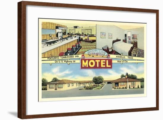 Skyline Motel, Amarillo--Framed Art Print