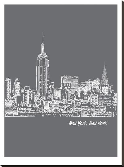 Skyline New York City 1-Brooke Witt-Stretched Canvas Print