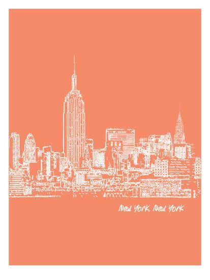 Skyline New York City 8-Brooke Witt-Art Print