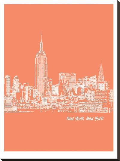 Skyline New York City 8-Brooke Witt-Stretched Canvas Print