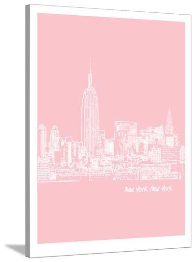 Skyline New York City 9-Brooke Witt-Stretched Canvas Print