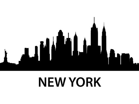 Skyline New York-unkreatives-Art Print