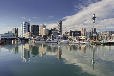 Skyline of Auckland, Yacht Harbour, Wynyard Crossing, Viaduct Basin, Harbour-Rainer Mirau-Photographic Print