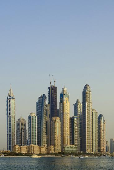 Skyline of Buildings around the Dubai Marina, Dubai, Uae-Michael DeFreitas-Photographic Print