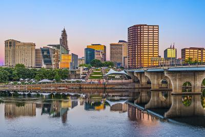 Skyline of Downtown Hartford, Connecticut.-SeanPavonePhoto-Photographic Print