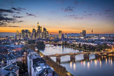 Skyline of Frankfurt, Germany, the Financial Center of the Country.-SeanPavonePhoto-Photographic Print