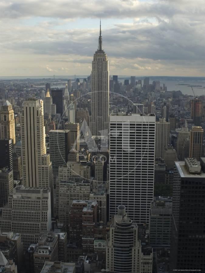 Skyline Of Lower Manhattan As Seen From Rockefeller Center New