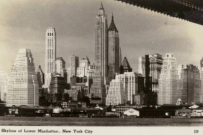 Skyline of Lower Manhattan, New York City, USA--Photographic Print