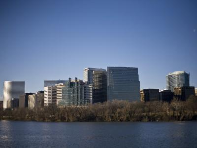 Skyline of Rosslyn in Arlington County, Virginia in the Morning-Hannele Lahti-Photographic Print