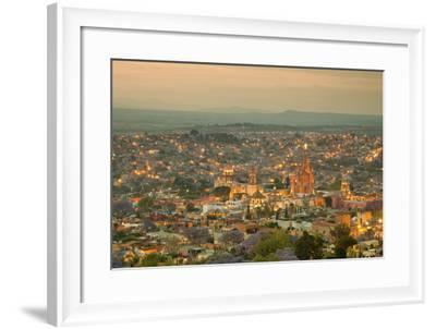 Skyline of San Miguel De Allende in Mexico after Sunset-Borna-Framed Photographic Print
