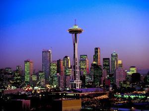 Skyline of Seattle at Dusk