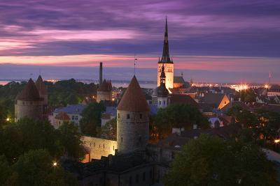 Skyline of Tallinn-Jon Hicks-Photographic Print