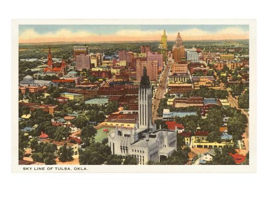 Skyline of Tulsa, Oklahoma--Art Print