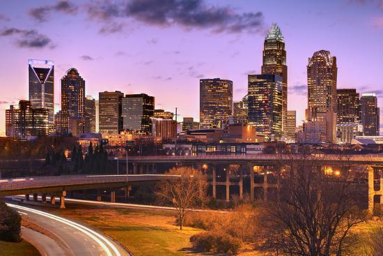 Skyline of Uptown Charlotte, North Carolina.-SeanPavonePhoto-Photographic Print