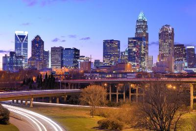 Skyline of Uptown, the Financial District of Charlotte, North Carolina.-SeanPavonePhoto-Photographic Print