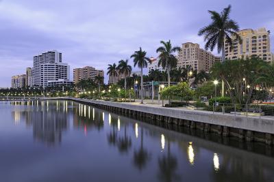 Skyline of West Palm Beach, Florida, United States of America, North America-Richard Cummins-Photographic Print