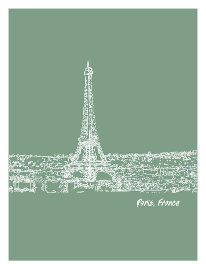 Skyline Paris 6-Brooke Witt-Art Print