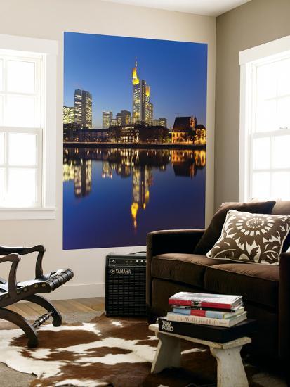 Skyline Reflected in Main River at Dusk-Richard l'Anson-Giant Art Print