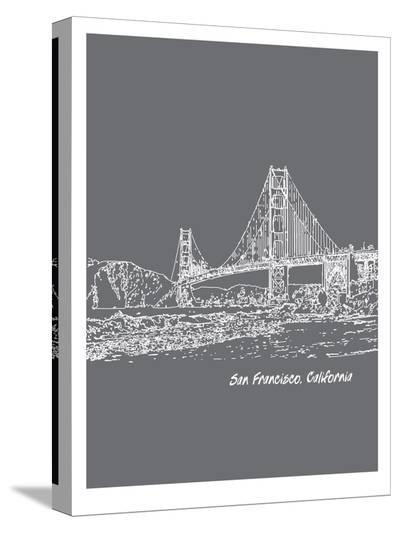 Skyline San Francisco 1-Brooke Witt-Stretched Canvas Print