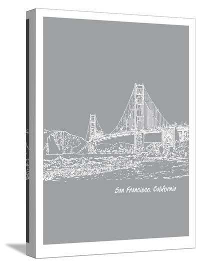 Skyline San Francisco 2-Brooke Witt-Stretched Canvas Print