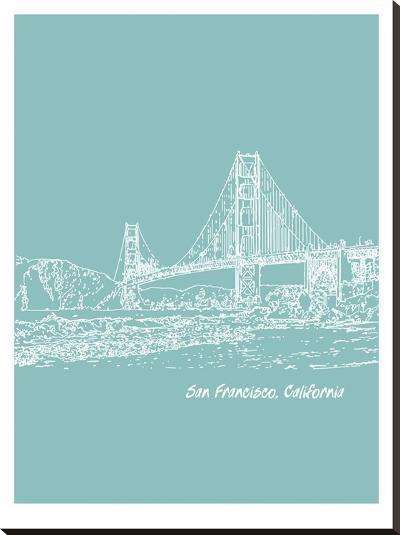 Skyline San Francisco 5-Brooke Witt-Stretched Canvas Print