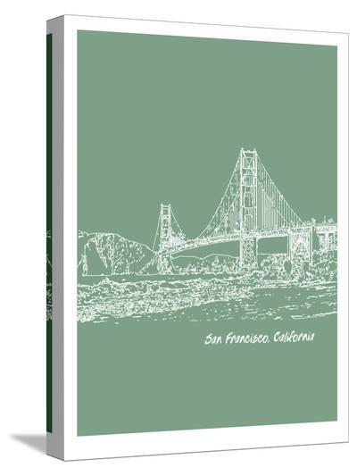 Skyline San Francisco 6-Brooke Witt-Stretched Canvas Print