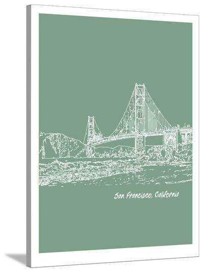 Skyline San Francisco 6-Brooke Witt-Stretched Canvas Print