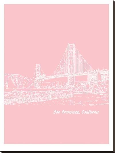 Skyline San Francisco 9-Brooke Witt-Stretched Canvas Print