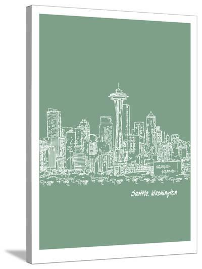 Skyline Seattle 6-Brooke Witt-Stretched Canvas Print