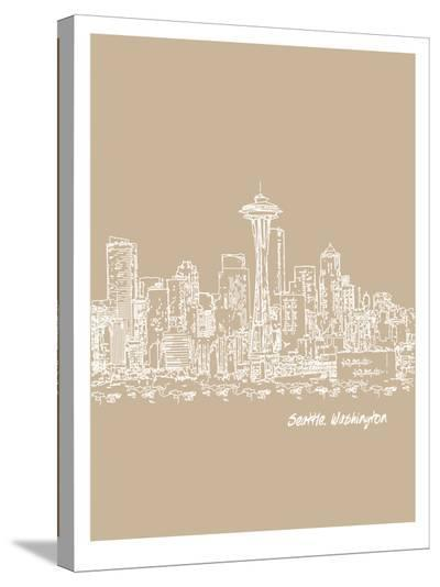 Skyline Seattle 7-Brooke Witt-Stretched Canvas Print