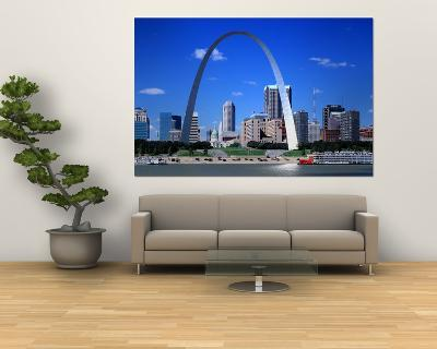 Skyline, St. Louis, MO, USA--Giant Art Print