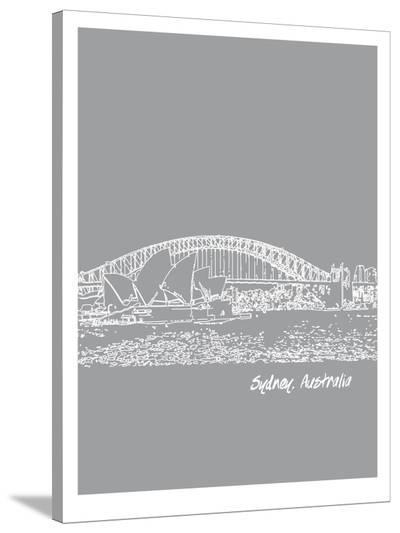 Skyline Sydney 2-Brooke Witt-Stretched Canvas Print