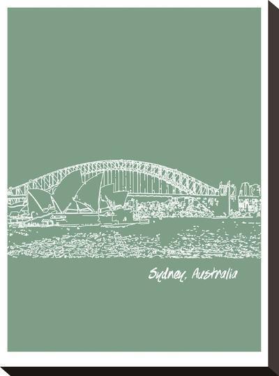 Skyline Sydney 6-Brooke Witt-Stretched Canvas Print
