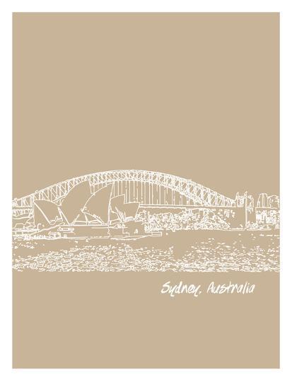 Skyline Sydney 7-Brooke Witt-Art Print