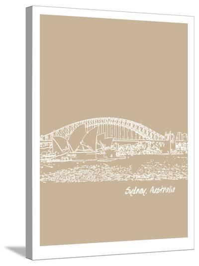 Skyline Sydney 7-Brooke Witt-Stretched Canvas Print