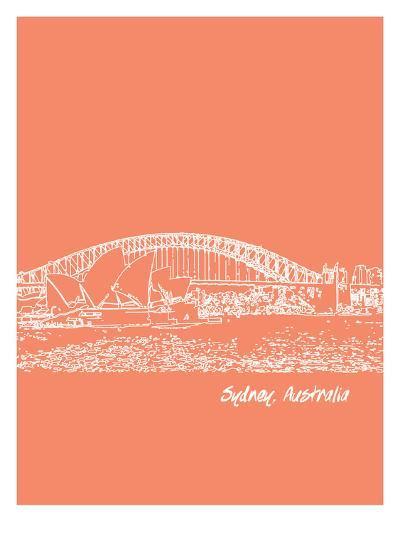 Skyline Sydney 8-Brooke Witt-Art Print