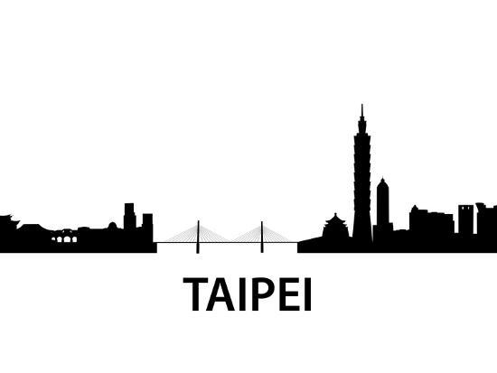 Skyline Taipei-unkreatives-Art Print