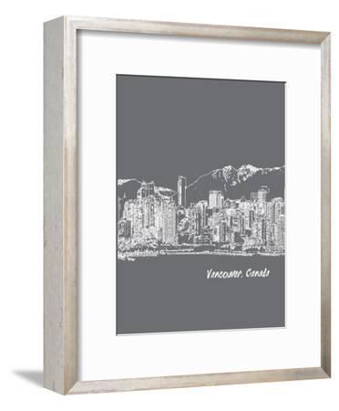 Skyline Vancouver 1-Brooke Witt-Framed Art Print