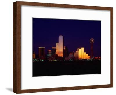 Skyline View of Buildings and High-Rises at Sunset in Dallas, Texas